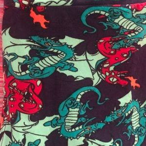 Os lularoe new dragon leggings